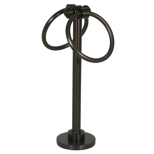 Allied Brass Southbeach Free Standing Table 2 Ring Guest Towel Holder