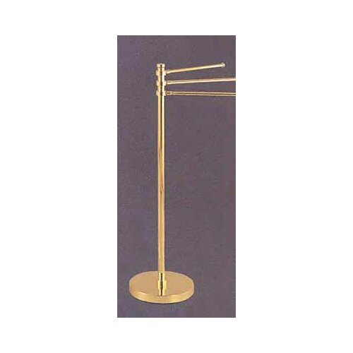 """Allied Brass Universal Free Standing Towel Stand with 3-12"""" Arms"""