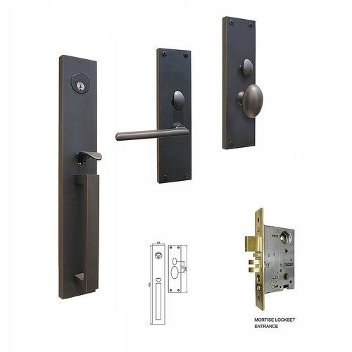 Double Hill USA Manchester Keyed Mortise Entry Set