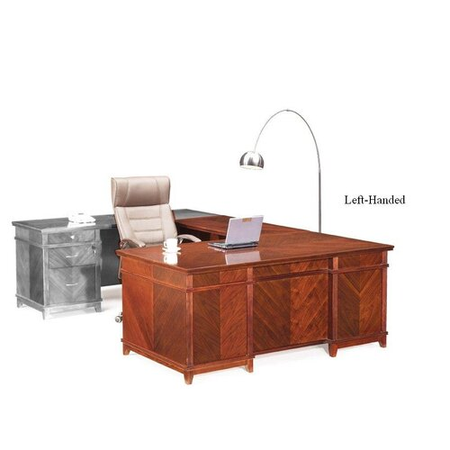 Absolute Office Cambridge L-Shaped Executive Desk with Return