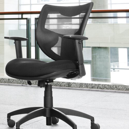 OFM Poly Mesh Back Contemporary Executive Chair with Arms