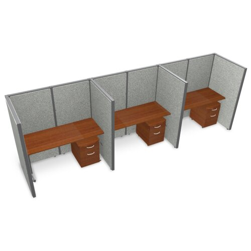 OFM Privacy Station Panel System 1x3 Configuration