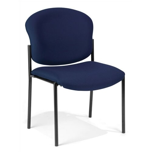 OFM Fabric Armless Stacking Chair