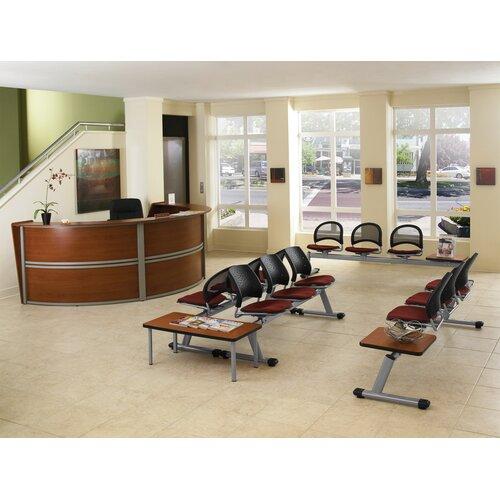 OFM Reception Furniture Triple Unit Curved Station