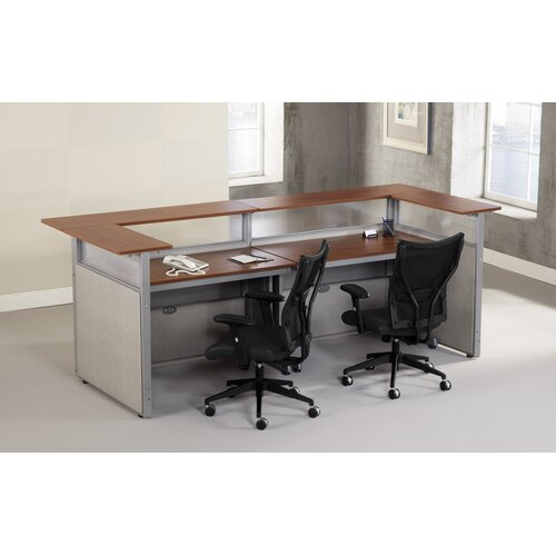 OFM Standard Reception Desk with Chair