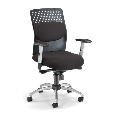 OFM AirFlo Back Series Executive Chair with Brushed Metal Accents