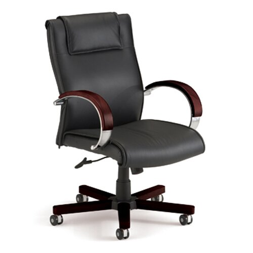 OFM Apex Leather Executive Chair with Arms