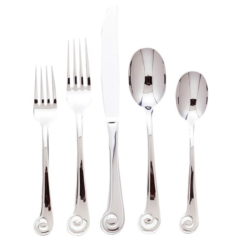 Ginkgo Sanibel 20 Piece Surf Flatware Set