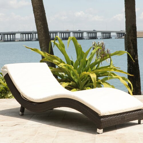 Source Outdoor Wave Chaise Lounge with Cushion