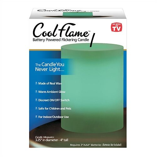 As Seen On TV by Emson Cool Flame Pillar Candle