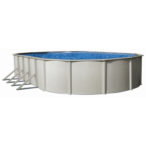"Backyard Leisure by Wilbar Round 52"" Deep Impressions Above Ground Pool Package"