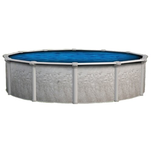 "Backyard Leisure by Wilbar Round 54"" Deep Vision Above Ground Pool Package"