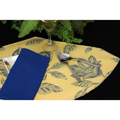 Pacific Table Linens Bouquet Reversible Wedge Placemat