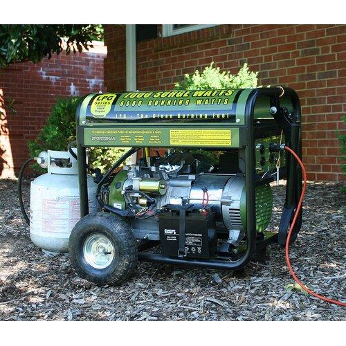 7000 Watt Liquid Propane Generator