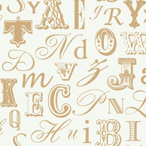 York Wallcoverings Risky Business Word Play Wallpaper