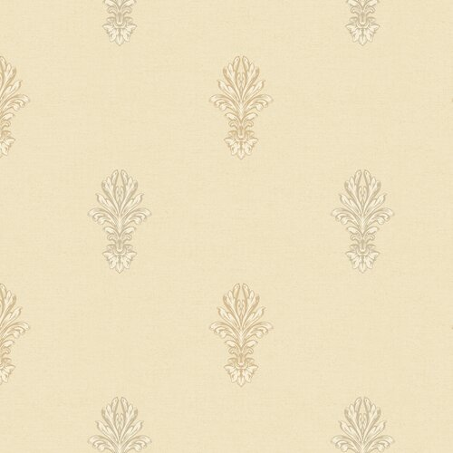 York Wallcoverings Heritage Home Ornate Damask Medallion Wallpaper