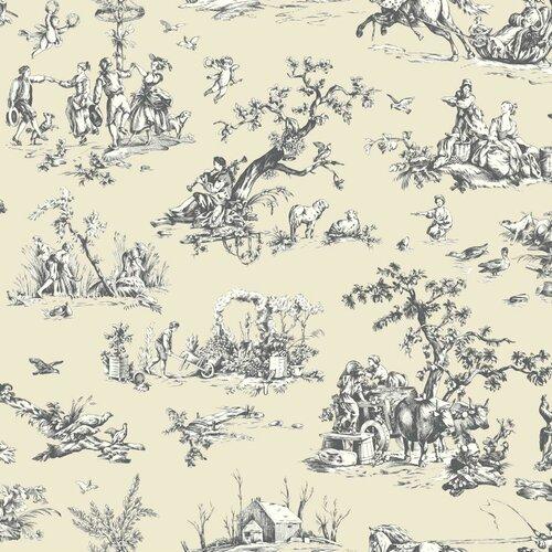 York Wallcoverings  Scenic Toile Wallpaper