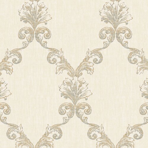 York Wallcoverings Natural Radiance Belvedere Damask Wallpaper