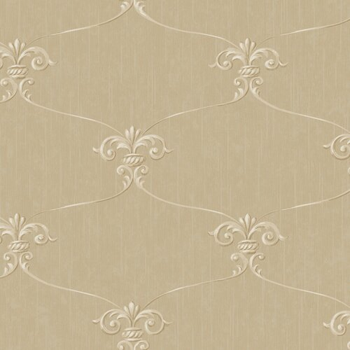 York Wallcoverings Royal Cottage Fleur Damask Wallpaper