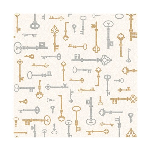 York Wallcoverings Bistro 750 Key and Mini Damask Wallpaper