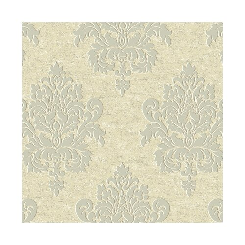 York Wallcoverings Proper English Etched Damask Wallpaper