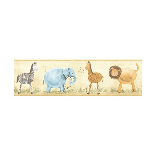 York Wallcoverings York Kids IV Safari Animals Wallpaper Border