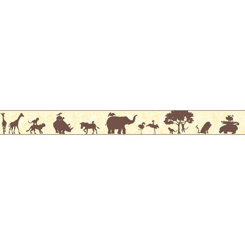 York Wallcoverings Peek-A-Boo Safari Scroll Wallpaper Border