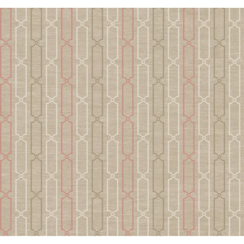 York Wallcoverings Jewel Box Links Stripe Wallpaper