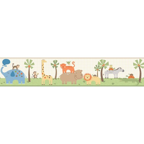 York Wallcoverings Peek-A-Boo Jungle Friends Wallpaper Border