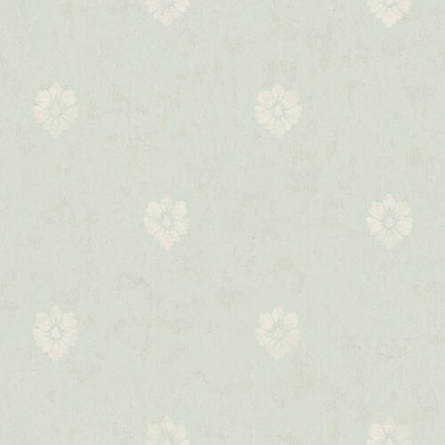 York Wallcoverings Fresco Velvet Floral Spot Wallpaper