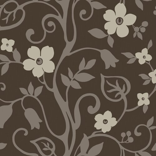 York Wallcoverings Walt Disney Signature II Wonderland Floral Bontanical Wallpaper