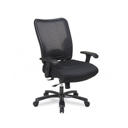 Office Star Products Space Air Grid Executive Big & Tall Chair, Air Grid Back/Mesh Seat