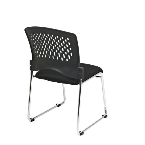 Office Star Products isitors Chair with Plastic Back Fabric Seat