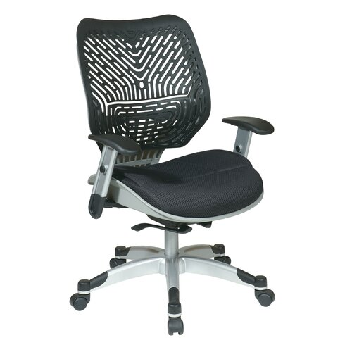 Office Star Products SPACE REVV® Series - Self Adjusting Ice SpaceFlex® Back Chair and Shadow Mesh Seat