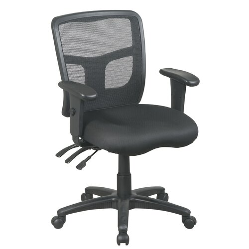 Office Star Products ProLine II High-Back Dual Function Control Managerial Chair with Arms