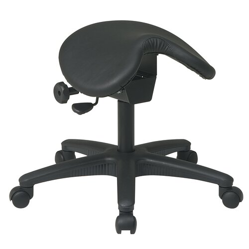 Office Star Products Backless Drafting Chair with Saddle Seat and Seat Angle Adjustment