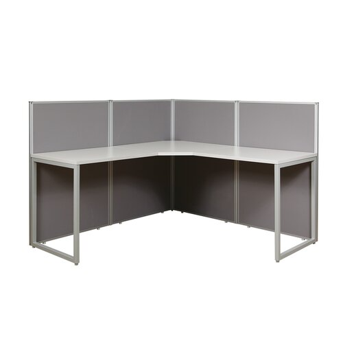 Office Star Products Box Office Four Panels and 90 Degree L Shape Desk