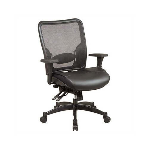 Office Star Products SPACE Professional Matrex Mid-Back Office Chair with 4-Way Adjustable Arms