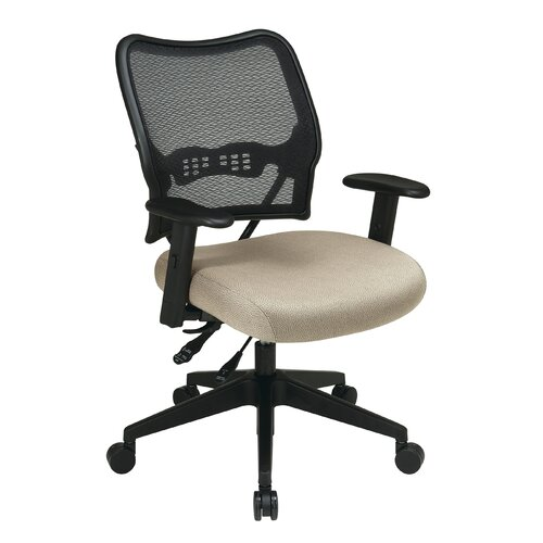 Office Star Products AirGrid Back and Fabric Seat Space Seating Deluxe Office Chair