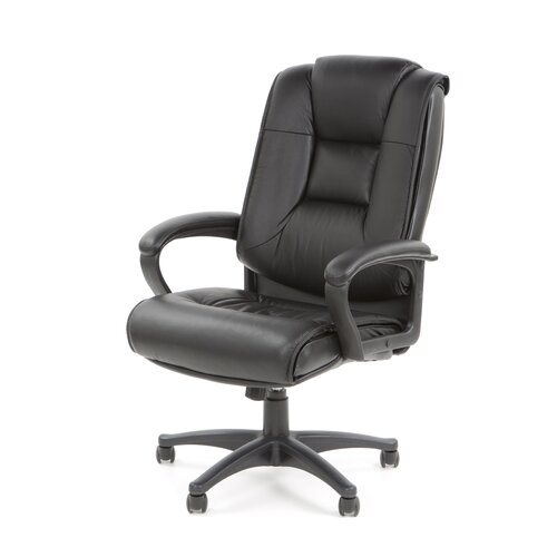 Office Star Products Deluxe High-Back Leather Executive Chair