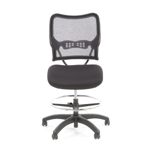 Office Star Products Height Adjustable Drafting Chair with Footring