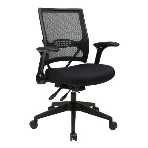 Office Star Products Professional Air Grid Back Managers Chair with Flip Arms