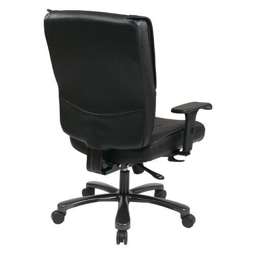 Office Star Products Deluxe Big and Tall Back Leather Executive Office Chair
