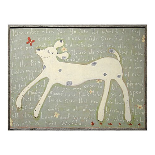 Girl Dog Framed Painting Print