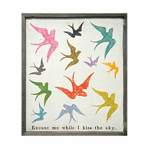 Sugarboo Designs Excuse Me While I Kiss The Sky Framed Painting Print