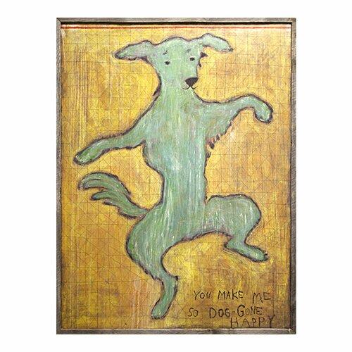 Sugarboo Designs Dancing Dog Framed Painting Print