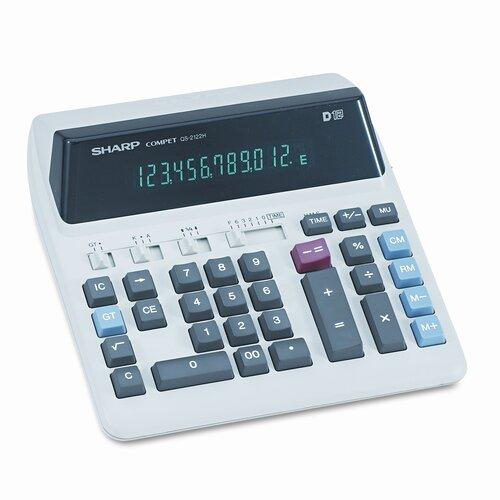 QS-2122H Compact Desktop Calculator, 12-Digit Fluorescent