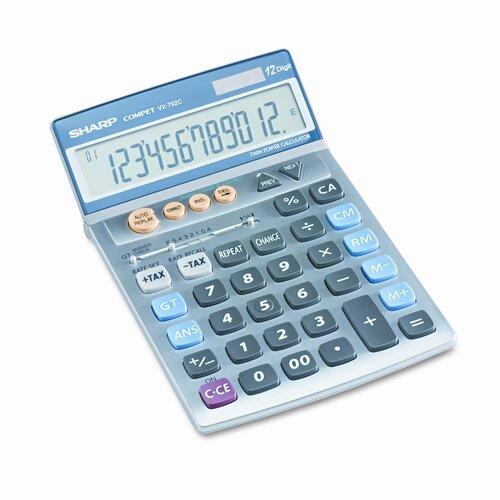 Sharp VX-792C Compact Desktop Calculator, 12-Digit LCD