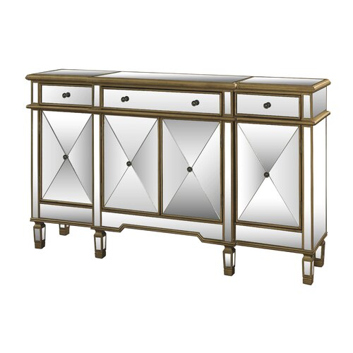 3 Drawer Mirrored Console