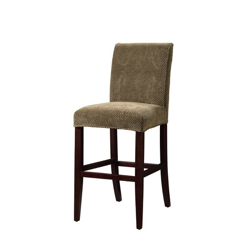 Powell Furniture Classic Seating Checked Stool Slipcover